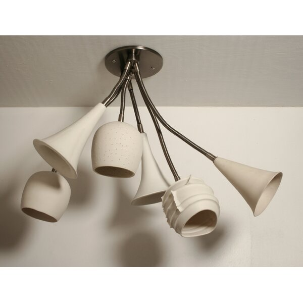 Newmanstown 6 - Light 17 Cluster Geometric Semi Flush Mount by Bloomsbury Market