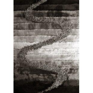 Strale Hand-Woven Gray/Black Area Rug ByOrren Ellis