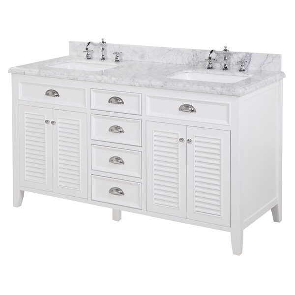 "kbc savannah 60"" double bathroom vanity set & reviews 