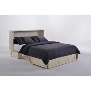Night & Day Furniture Shaker Queen Storage Murphy Bed with Mattress
