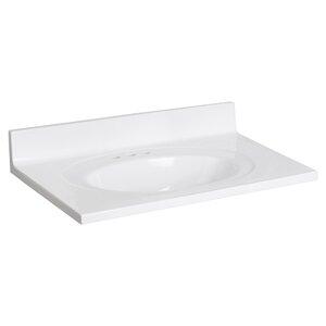 Cultured Marble 31 Single Bathroom Vanity Top
