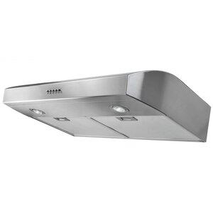 30″ 250 CFM Ducted Under Cabinet Range Hood