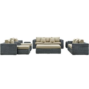 Keiran 9 Piece Sunbrella Sectional Set with Cushions