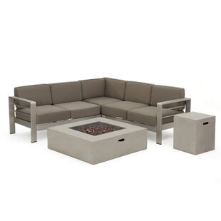 Royalston 5 Piece Sectional Set with Cushions