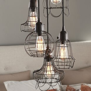 Gracie Oaks Huang Wire 5-Light Pendant