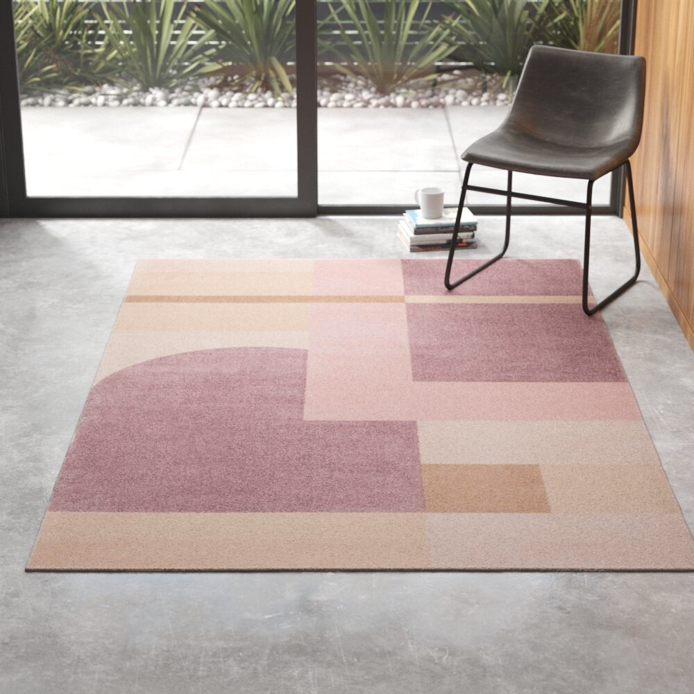 Ruthie Geometric Pink Light Purple Area Rug Reviews Allmodern