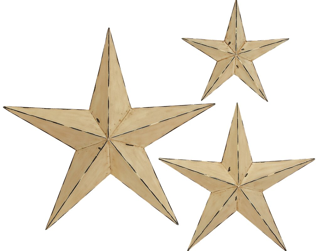 ABCHomeCollection 3 Piece 3 Dimensional Stars Wall Décor Set ...