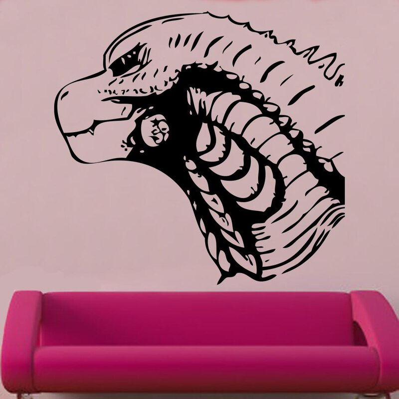 kult kanvas godzilla decal vinyl wall sticker | wayfair.co.uk