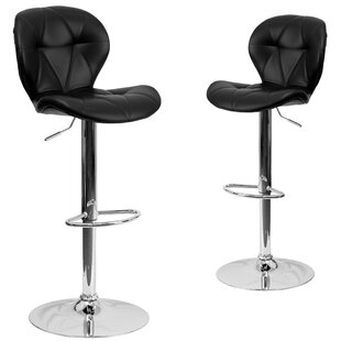 Cillian Adjustable Height Swivel Bar Stool (Set of 2) Wrought Studio