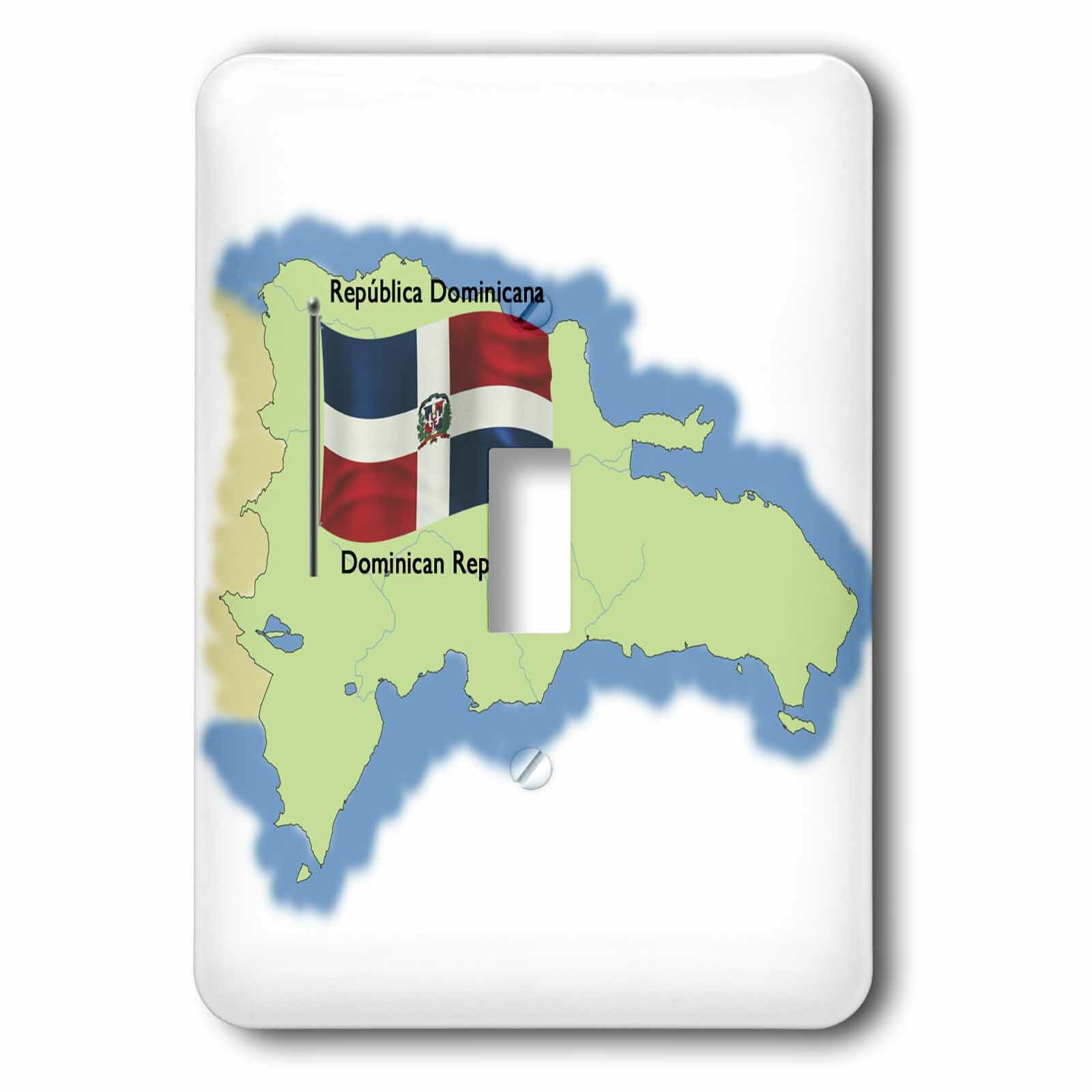 3drose The Dominican Republic 1 Gang Toggle Light Switch Wall Plate Wayfair