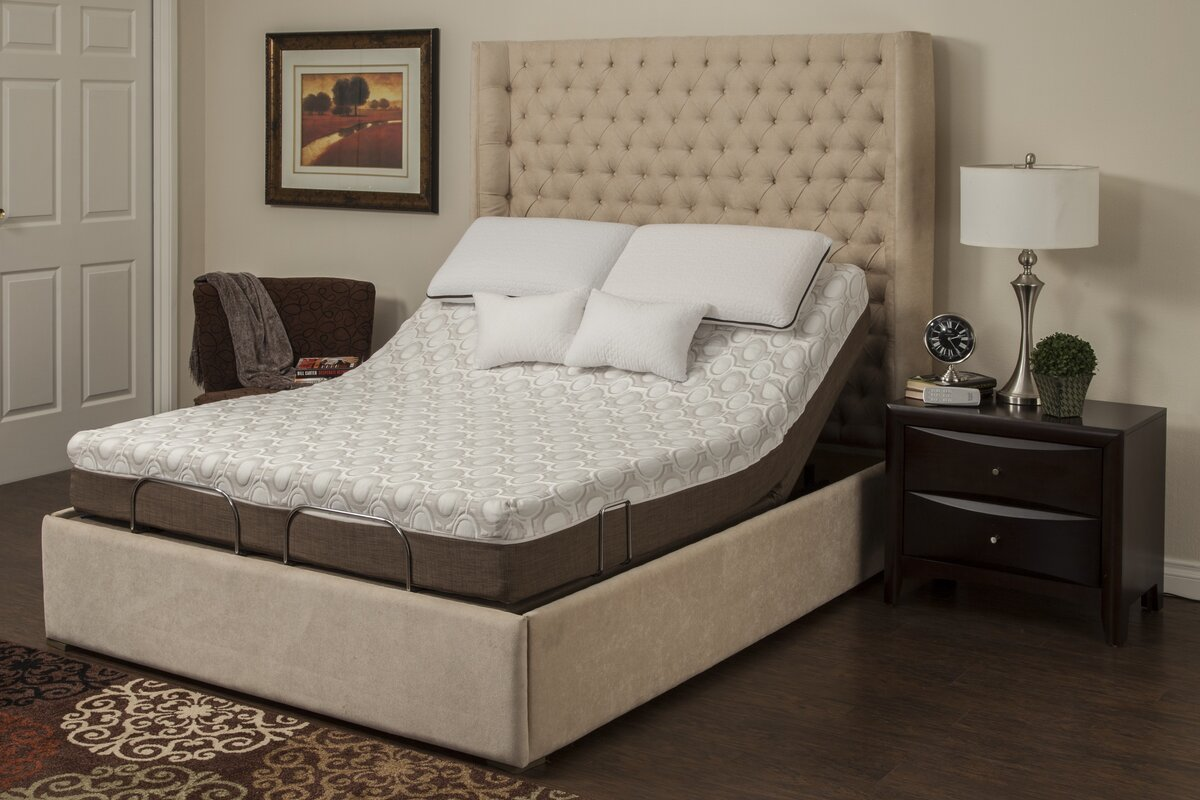 Adjustable Bed Base >> Blissfulnights Peony Memory Foam Adjustable Bed Base And Mattress