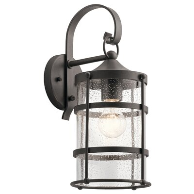 17 Stories Cowart Outdoor Wall Lantern Size 21 inch H x 9 inch W x 12 inch D