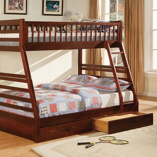 Flournoy Twin over Full Bunk Bed with Drawers by Harriet Bee