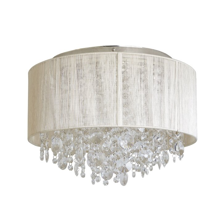 Alvarez String Beaded Ceiling 3 Light Flush Mount