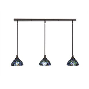 Astoria Grand Ratchford 3-Light Kitchen Island Pendant