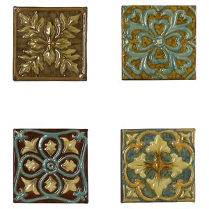 Melina Medallion Tile Wall Du00e9cor (Set of 4)