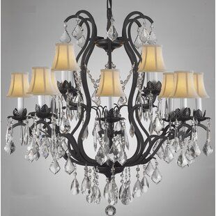 Astoria Grand Alvan 12-Light Spectra Shaded Chandelier