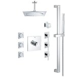Allure Thermostatic Complete Shower System with Rough-in Valve by GROHE