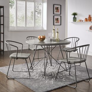 Timmins Iron 5 Piece Dining Set