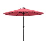 Grecia Solar Lighted 9 Market Umbrella