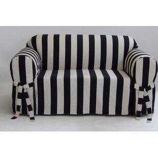 Stripe Box Cushion Slipcover by Breakwater Bay
