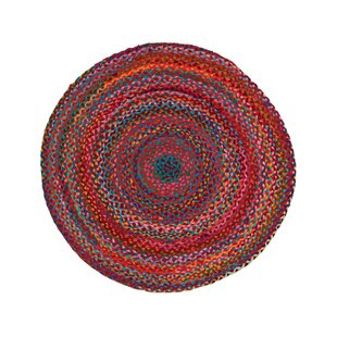 Carnivale Hand-Braided Cotton Red Area Rug by Home Furnishings by Larry Traverso