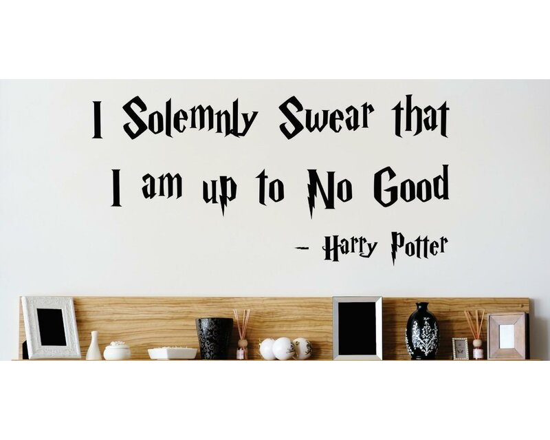 Sticker Harry Potter I Solemnly Swear That I Am Up To No Good Car Decal