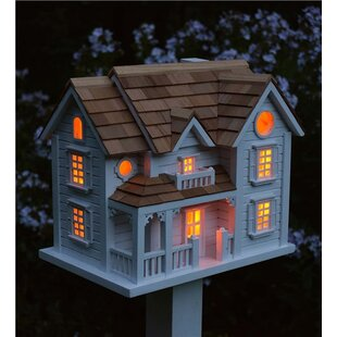 Plow & Hearth Kingsgate Cottage Lighted 53 in x 11.75 in x 8.5 in Birdhouse