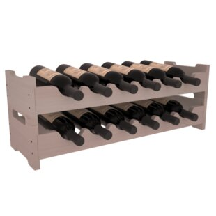 Rayle Redwood Mini Scalloped 12 Bottle Ta..
