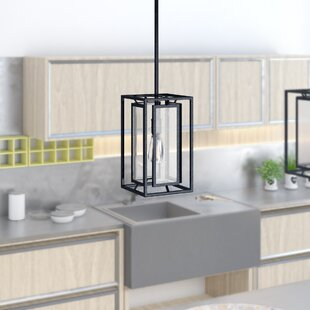 Cosette 1-Light Foyer/Square/Rectangle Pendant by 17 Stories