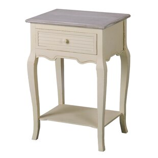 Shorehaven 1 Drawer Bedside Table By Beachcrest Home