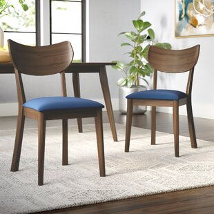 George Oliver Waterbury Solid Wood Dining Chair (Set of 2)