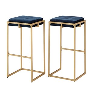 Gambier Counter  Bar Stool Set of 2 by Everly Quinn
