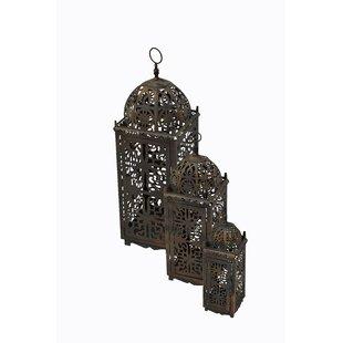 3 Piece Metal Lantern Set by Bungalow Rose