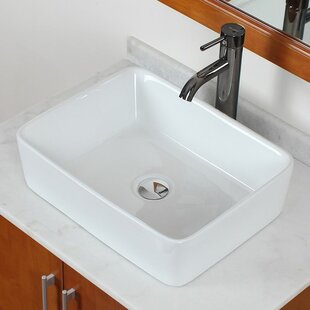 Coupon Ceramic Rectangular Vessel Bathroom Sink By American Imaginations