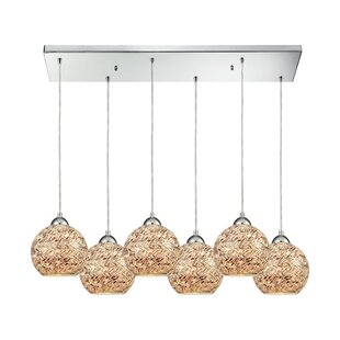Brigham 6-Light Cluster Pendant by World Menagerie