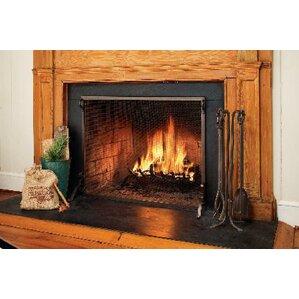 wood fireplace screens. Solid Steel Classic Flat Guard Fire Screens Fireplace  Doors You ll Love Wayfair