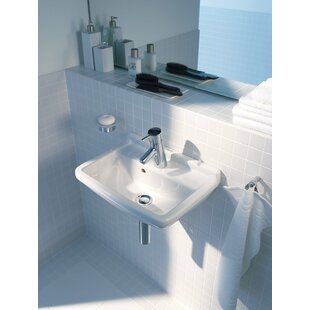 Duravit Starck 3 Ceramic Vitreous China Specialty Wall Mount Bathroom Sink with Overflow