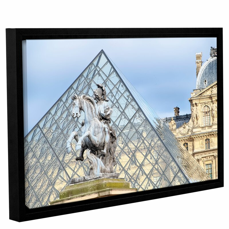 King Louis XIV in Front of the Glass Pyramid Framed Photographic
