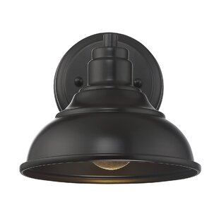 Affordable Price Leisureville 1-Light Outdoor Barn Light By Beachcrest Home