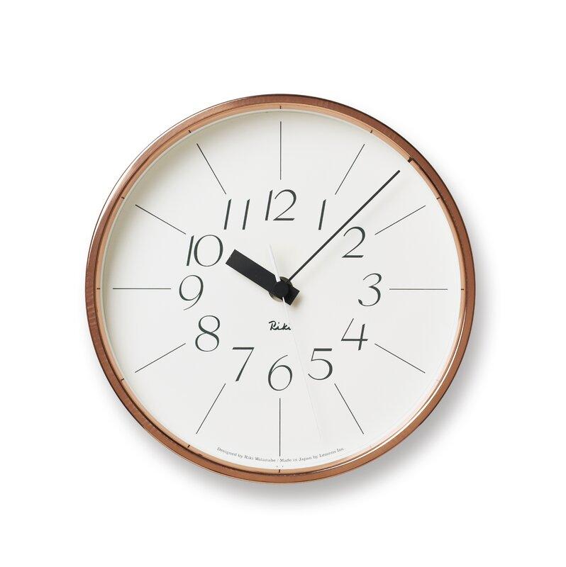 lemnos analoge wanduhr copper 20 4 cm. Black Bedroom Furniture Sets. Home Design Ideas