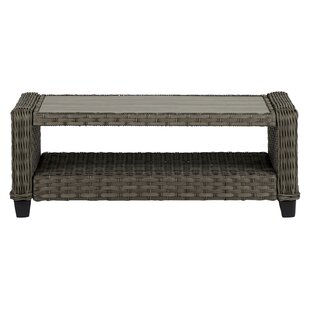 Stacia Aluminium And Rattan Coffee Table Image