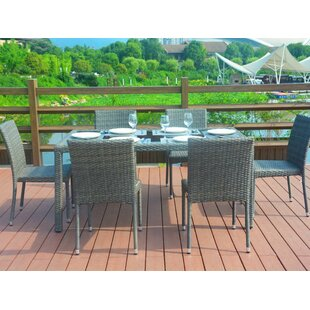 Latitude Run Marin 7 Piece Dining Set