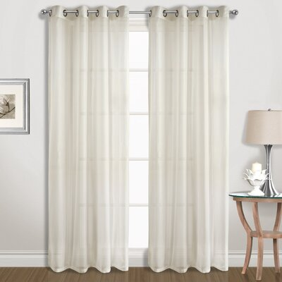 Special Solid Sheer Grommet Curtain Panels United Curtain Co. Curtain Color: Natural