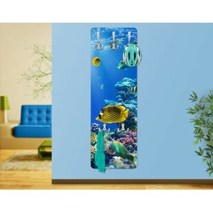 Underwater Lights Wall Mounted Coat Rack By East Urban Home