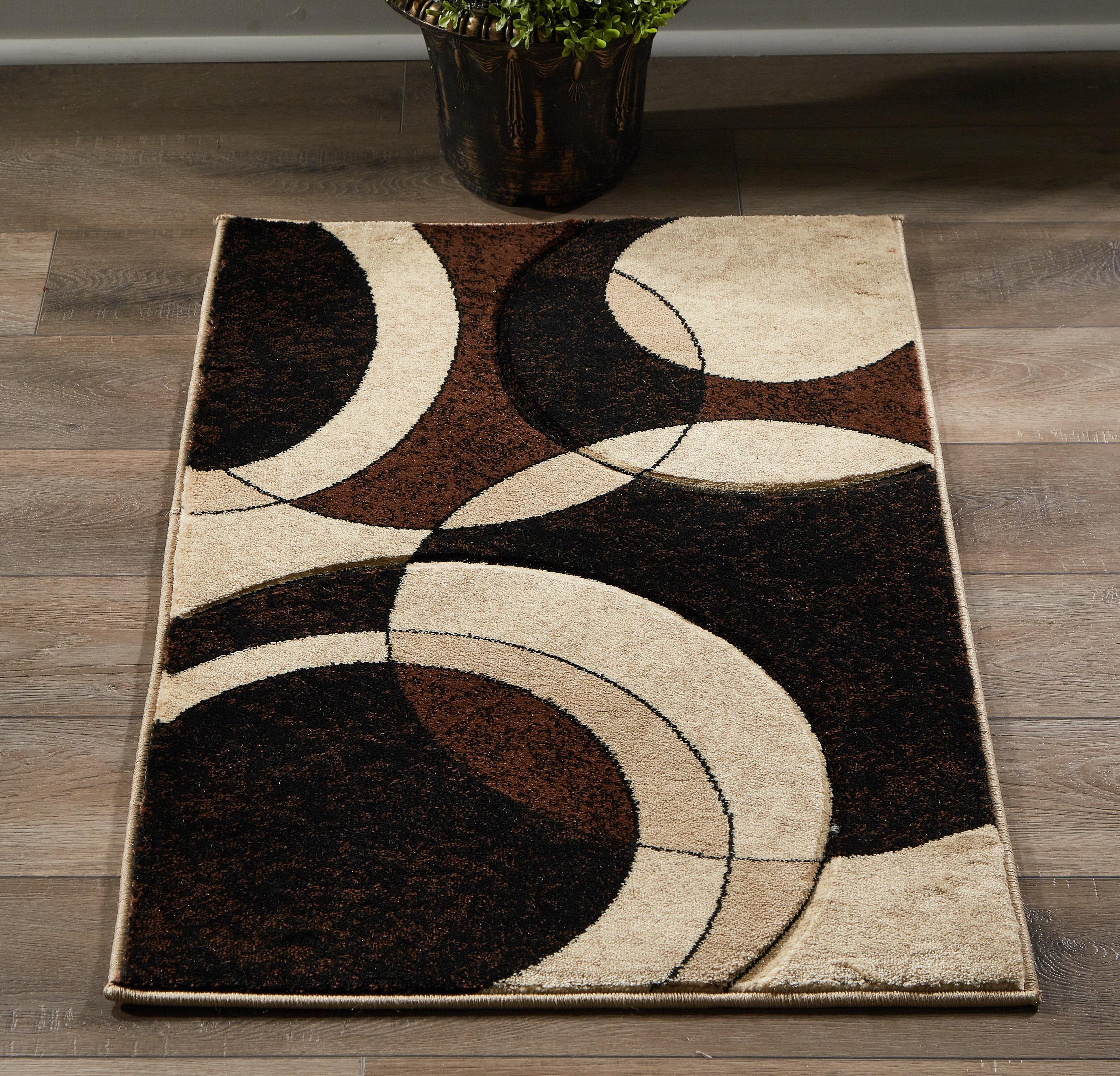 Orren Ellis Prunty Abstract Beige Brown Area Rug Wayfair