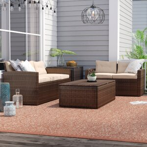 Milena 4 Piece Sectional Set with Cushion