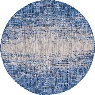 Minturn Blue/Gray Indoor/Outdoor Area Rug by Wrought Studio