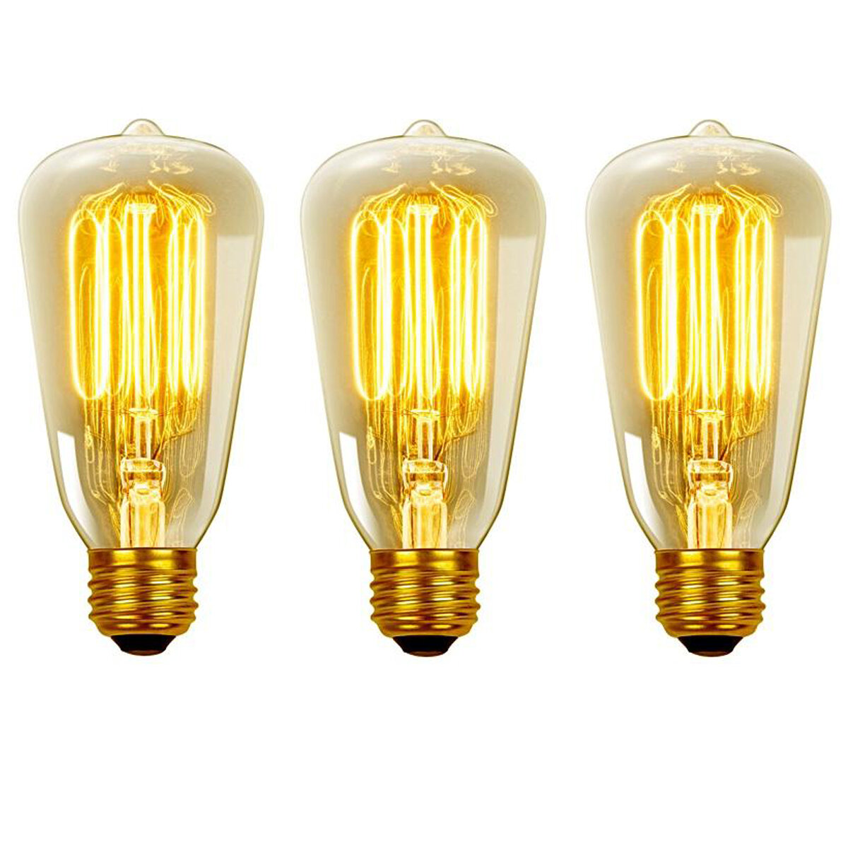 2a94256a32c Globe Electric Company Vintage Edison 40 Watt (2700K) S60 Squirrel Cage  Incandescent Filament Light Bulb   Reviews
