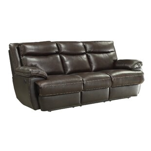 Purchase Hughes Leather Reclining Sofa by Red Barrel Studio Reviews (2019) & Buyer's Guide